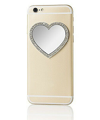 iDecoz Selfie Mirror - Silver Heart with Crystals - New in Packaging!