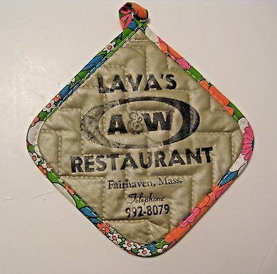 Vintage A&w Root Beer Restaurant Advertising Hot Pad ~ Fairhaven,mass. ~