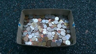 10.6 LBS  - World Coin Lot of Miscellaneous Foreign Coins