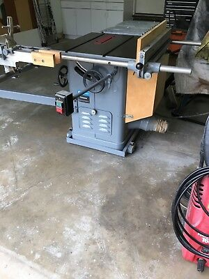 """UNISAW Rockwell 10"""" Table Saw with Sliding Table Attachment and Outfeed Table"""