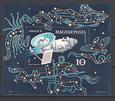 Hungary 1972 Sc C328 Venera 8 USSR Space Mission MNH Souvenir Sheet