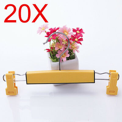 Child S 26.5 CM Plastic Yellow Non-Slip Trouser Hook Wholesale Lots 20 PCS
