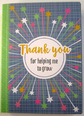 "Teacher's Gift Pocket Note Book ""thank You For Helping Me To Grow..."""