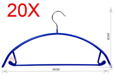 New Blue S 43*20 CM Non-Slip Stainless Steel Hanger Hook Wholesale Lots 20 PCS