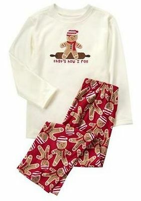 NWT Gymboree Christmas Boys GingerBread Pajama Set That's How I roll Many sizes
