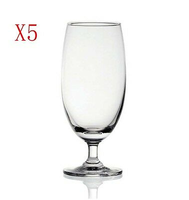 New 5X Capacity 420ML Height 172MM Transparent Goblet Beer Glass/Glassware %