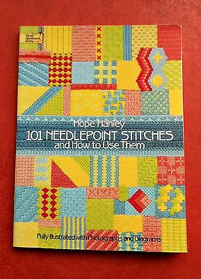 101 NEEDLEPOINT  STITCHES & How to Use Them ~ Hope Hanley 1986 SC Book in GC