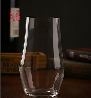 New 5X Capacity 480ML Height 132MM Lead Free Whisky Wine Glass/Glassware %