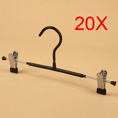 New Non-Slip S 31 CM Black Trouser Rack Hook Wholesale Lots 20 PCS