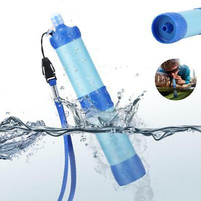 Portable Water Purifier Wild Drinking Survival Kit Water Filter in Blue, White