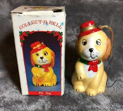 Vintage Beautifully Hand Painted Miniature Collect-A-Bells FH. Dog