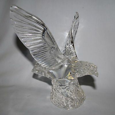 Waterford Crystal Ireland Eagle figure paperweight