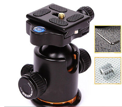Pro Metal Ball Head+Quick-release Plate for Monopod Tripod&Canon Camera DSLR