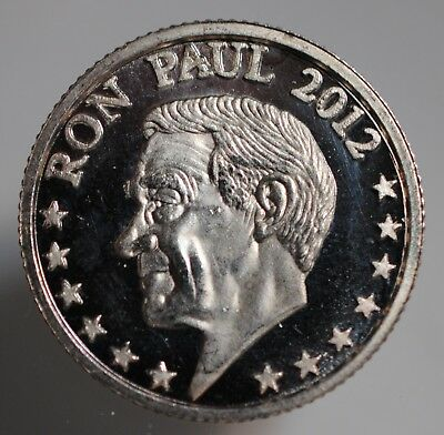 2012 Ron Paul 1/10 One Tenth Troy Ounce .999 Fine Silver Round