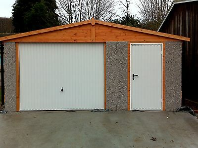 """Concrete Apex Garages Priced For Fitting In London - 14'3"""" By 18'5"""