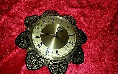 Vintage Retro Metamec Battery Sunburst Wall Clock
