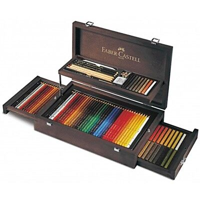 Faber-Castell Art & Graphic Collection im Holzkoffer; Basisaustattung 3x 36 Farb