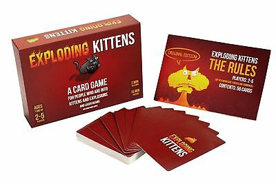 Exploding Kittens: Explosions and Sometimes Goats Card Game Christmas gift