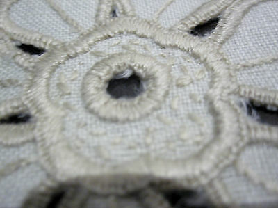 A Beautiful Vintage Cutwork And Embroidered Sandwich Doily