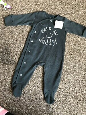 BNWT Next Baby Boys Giggles For Daddy Sleepsuit 0-3 Months Upto 3M
