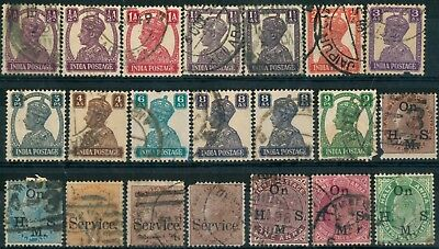Lot Of India Old Stamps - Used
