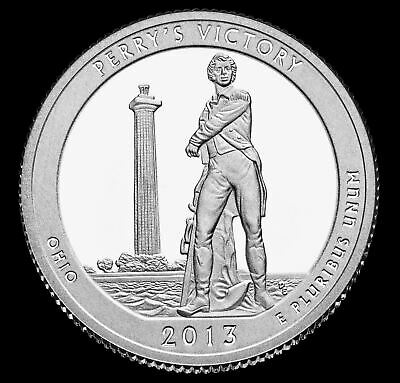 """2013 D Perry's Victory National Park Quarter Ohio """"Brilliant Uncirculated"""" ATB"""
