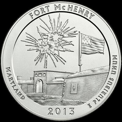 """2013 D Fort McHenry National Park Quarter Maryland """"Brilliant Uncirculated"""" ATB"""