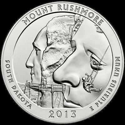 "2013 P Mount Rushmore National Park Quarter South Dakota ""BU"" ATB"