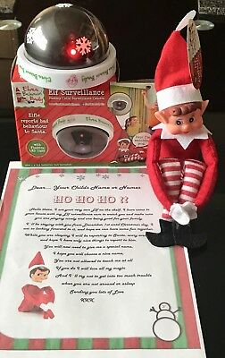 Elf Behaving Badly On The Shelf With A Christmas Elf Cam & Personalised Letter