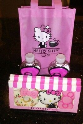 Hello Kitty Cafe Bag, 2 Water Bottles and 2 Cookie Packs