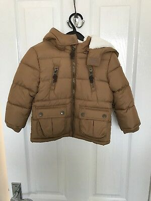 Boys F&F Coat Jacket Brown 12-18 Months 1-1.5years