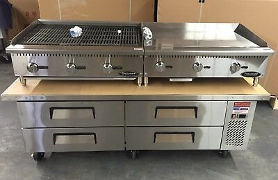 CHEF BASE 76 Refrigerated Stand Equipment Table 2 Drawer Package Grill & Griddle