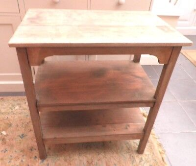 Antique Mahogany Side table with shelves