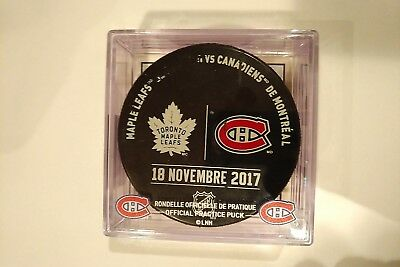 MONTREAL CANADIENS vs TORONTO MAPLE LEAFS  Warm-Up PUCK with Ticket NHL HOCKEY