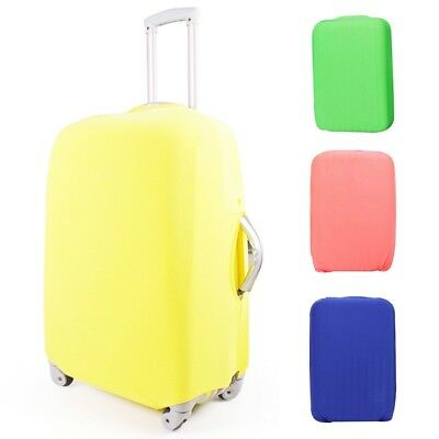 Luggage Cover Travel Case Dustproof Protector Suitcase Elastic Cloth Solid Color