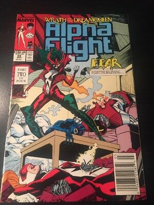 "Alpha Flight#68 Incredible Condition 9.2(1989)""Wrath Of The Dream Queen"""