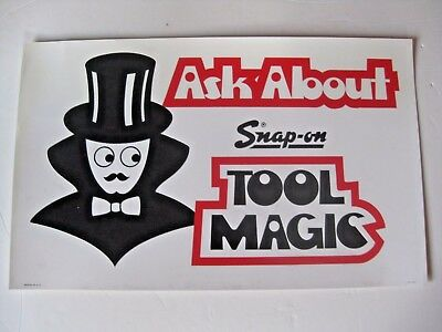 Rare Vintage Snap - On Tool Mechanic's Ask About Tool Magic Advertising Sign