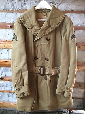 Original WWII US Army OD Mackinaw Jeep Coat Jacket 38