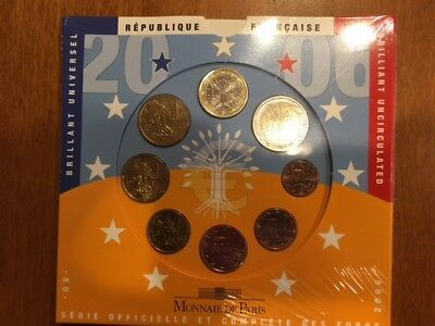 2006 France Euro Uncirculated Proof 8 Coin Set - 1c-2€