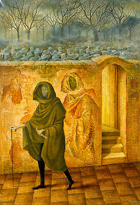 Breaking the Vicious Circle  by Remedios Varo   Giclee Canvas Print Reproduction