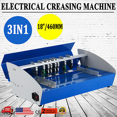 "3in1 18"" Electric creasing Machine Paper Creasers Cutters Perforator"