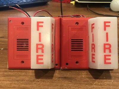 Edwards GS 691 2B Fire Alarm Horn Strobe 12v Rare notifier red local pull fire alarms, model bng 1rs $15 00 picclick  at fashall.co