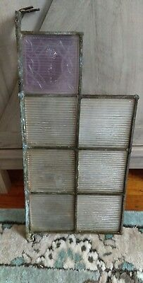 Rare Luxfer Pieces in part org window 1 Purple Glass Prism Tile