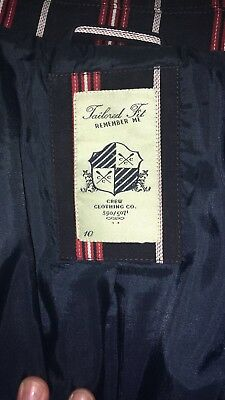 Crew Clothing Ladies Blazer Navy With Red And White Stripes Size 10