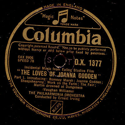"""PHILHARM.ORCH. & IRVING Vaughan Williams: """"The Loves Of Joanna Godden""""  G3176"""