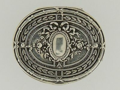German .800 Silver Pill Box Neoclassical Louis XVI Style - Silber snuff patch SL