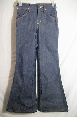 NEW Vintage Wrangler Big Bell Bottom Student Jeans SZ 25 X 28