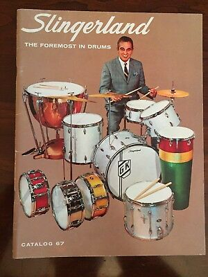 Vintage 1967 SLINGERLAND Drum Catalog GENE KRUPA Number 67 - EXCELLENT-Like New