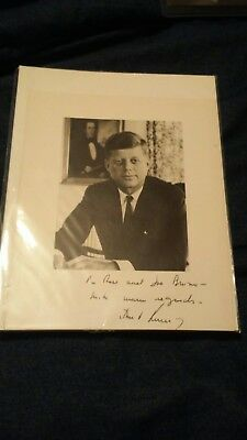 President John F. Kennedy signed autograph White House photo with provenance