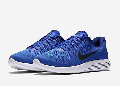 Nike Lunarglide 8 Racer Blue Black 843725-400 Men s Stability Running Shoes  NEW! 373b377f76